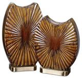 Zarina Marbled Ceramic Vases S/2