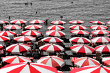 Beach Umbrellas Amalfi Coast Italy