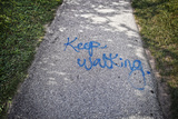 Keep Walking Graffiti