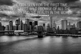 F Scott Fitzgerald New York Quote