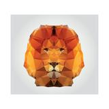 Geometric Polygon Lion Head, Triangle Pattern, Vector Illustration Reproduction d'art par BlueLela