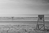 Lone Surfer Newport Rhode Island B/W