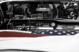 American Flag in Convertible