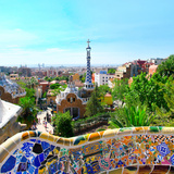 Park-Guell in Barcelona  Spain