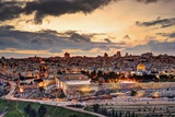 Skyline of the Old City and Temple Mount in Jerusalem  Israel