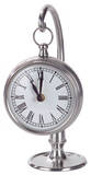 Pewter Finish Hanging Table Clock