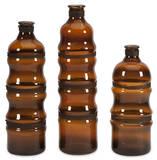 Cumulas Glass Bottles w/ Wire Wrap - Set of 3