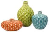 Sydney Waves Ceramic Vase Set