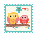 Animal Stamps - Owl Two