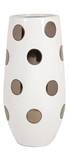 Metallic Polka Dot Vase