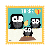 Animal Stamps - Penguin Three