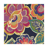 Floral Assortment Square I Reproduction d'art par Hugo Wild