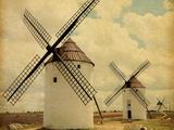 Medieval Windmills Castilla La Mancha  Spain Paper Texture
