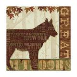 Woodland Words III Reproduction d'art par Jess Aiken