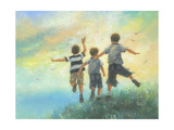 Three Brothers Leaping Reproduction d'art par Vickie Wade