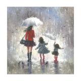 Rainy Day Walk with Mom Reproduction d'art par Vickie Wade