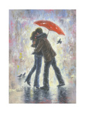 Kiss in the Rain Reproduction d'art par Vickie Wade