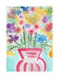 Red Vase of Flowers
