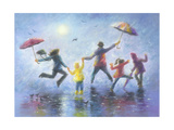 Singing in the Rain Reproduction d'art par Vickie Wade