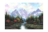 Teton Splendor Reproduction d'art par Vickie Wade