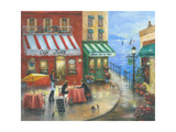 French Cafy the Sea Reproduction d'art par Vickie Wade