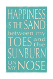 Happiness Is the Sand