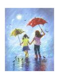 Rain Sisters Reproduction d'art par Vickie Wade
