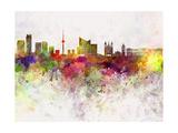 Vilnius Skyline in Watercolor Background Reproduction d'art par Paulrommer