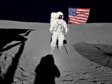 NASA Astronaut Spacewalk Moon Photo Poster Print