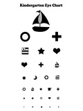 Kindergarten Eye Chart Reference Poster