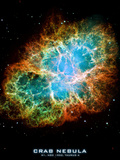 Crab Nebula Text Space Photo Art Poster Print