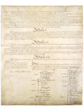 US Constitution Page 4 Art Poster Print
