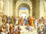 Raphael (The School of Athens) Restored Art Poster Print