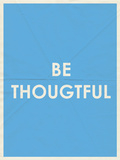 Be Thoughtful Typography