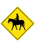 Horse Crossing Sign Poster