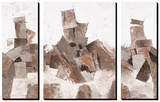 The Powerstation (set of 3 panels) Tableau multi toiles