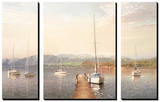 Sailing into the First Light (set of 3 panels) Tableau multi toiles