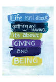 Giving and Being