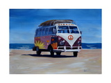 Surf Bus Series - The Groovy Peace VW Bus