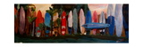 Beach Scene with Wall of Surf Boards  Hawaii I