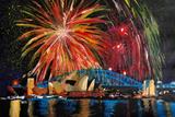 Sydney Australia Silvester with Opera Fireworks