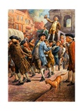 John Wilkes  Seen Here Returning from Paris  Being Saved from Arrest by a Mob of Citizens