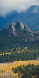 Rock Formations Along the Road Outside Estes Park  Rocky Mountains  Colorado USA