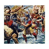 Fired Up by the Bravery of the Standard-Bearer  the Other Roman Legions Gained Courage