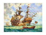 The Great Harry  Flagship of King Henry's Fleet  Sporting Many of its 251 Guns