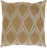 Metallic Leaves Pillow - Gold