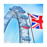 London Eye with Union jack