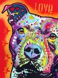 Thoughtful Pitbull Giclée par Dean Russo