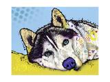 Husky de Sibérie Giclée par Dean Russo