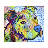 Thoughtful Pit Bull This Years Love 2013 Part 2 Giclée par Dean Russo
